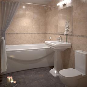 Klein aber oho - Ein Badezimmer muss nicht durch Größe bestechen